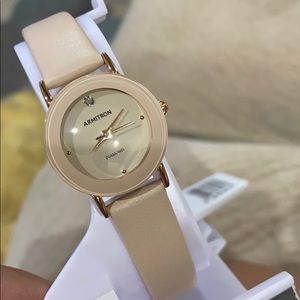 Armitron Cream colored Leather Women's Watch